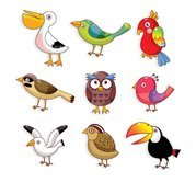 Cute cartoon bird 01
