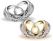 Interlocked Beautiful Gold & Diamond Wedding Rings