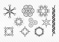 Decorative Sketch Vector Symbols
