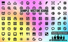85 simple vector icons