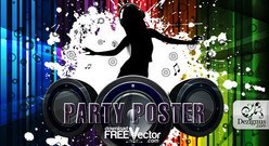 Vector party poster