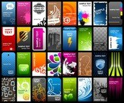 A Variety Of Card Template Vector The Trend