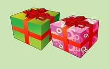 Twee Cartoon Christmas Gift Box