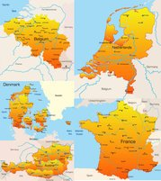 Geographic Map Europe 02