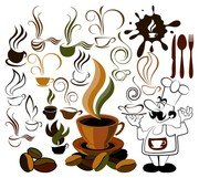 coffee icon and background