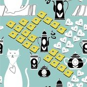 Cat Cartoon Background
