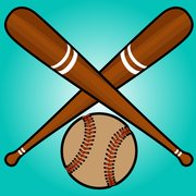 Crossed Baseball Bats with Ball Beneath