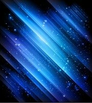 Snow and Stars Winter Blue Background