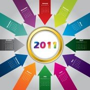 2011 Color Calendar Template