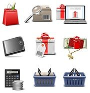 shopping icon vector series