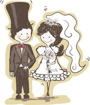 Handpainted Version Of The Bride And Groom 04