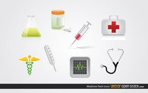 Free Medicine Icons Vector Pack