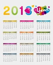 Colorful 2013 Calendar