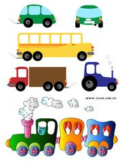Stock Vector Children's toy car