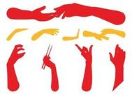 Hands Silhouettes Free Graphics