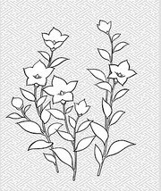 Japanese line drawing of plant flowers vector material -28 (