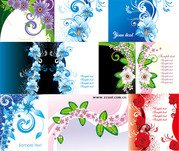 10 exquisite flower pattern vector material package