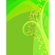 GREEN FLORAL VECTOR GRAPHICS.ai