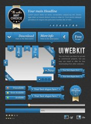 FREEBIES : UI Blue web kit