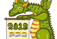 Year of the dragon calendar