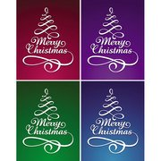 CHRISTMAS TREE WITH LETTERING.eps