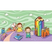 Vector niño 0000035 libro niño Cartoon