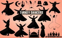 15 Vector Turkey Dancers