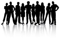 The trend of young people silhouette