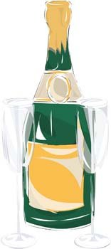 Champagne for celebration vector 3