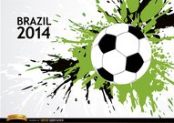 Grunge soccer background Brazil 2014