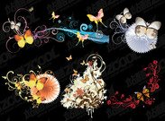 6 Butterfly and fashion pattern