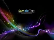 Colorful Abstract Light Wave