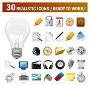 30 Realistic Vector Icons