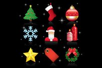 Glanzende Christmas Ornament Icon Pack