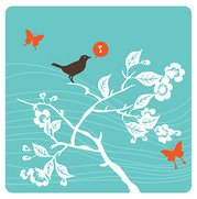 Branches and singing birds