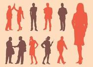 Vector Silhouettes de Business