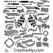 CREATIVE VECTOR RACING FLAGS.ai