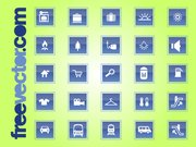 Voyage & Square Transport Icon Set