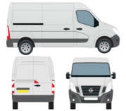 Nissan NV400 Van Vector Outline