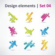 3 Sets Of Beautiful Vibrant Graphic Design Vector 2