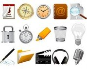 Stock Ilustrations Realistic Icons Set