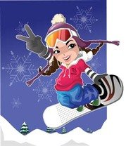 Snow boarding vector 13