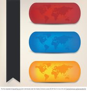 Colorful World Map Vectors