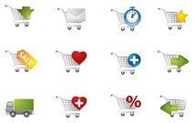 practical shopping cart icon