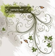 Fashion pattern vector with the banner material