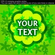 Green Background with Place for Your Text