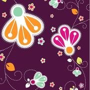 ROMANTIC FLOWERS VECTOR BACKGROUND.eps