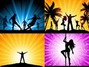Beautiful silhouettes vector material character