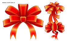 3 beautiful red ribbon