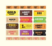 European And American Movie Ticket